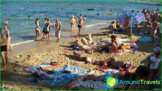 De stranden van Feodosia