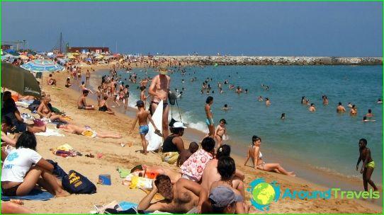 شواطئ برشلونة