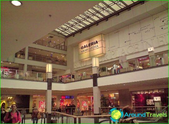 Магазини и търговски центрове Краков