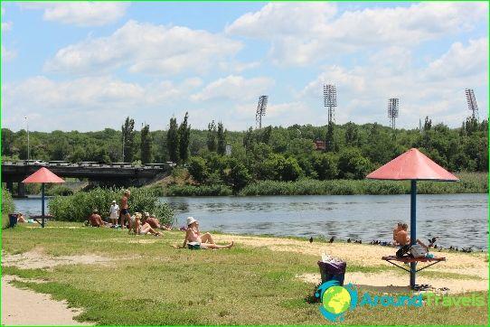 Stranden van Rostov aan de Don