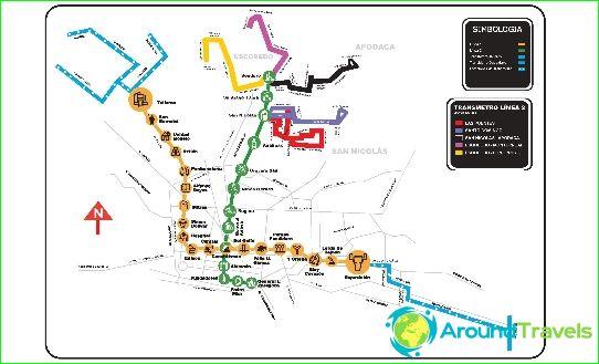 Métro Monterrey: plan, photo, description