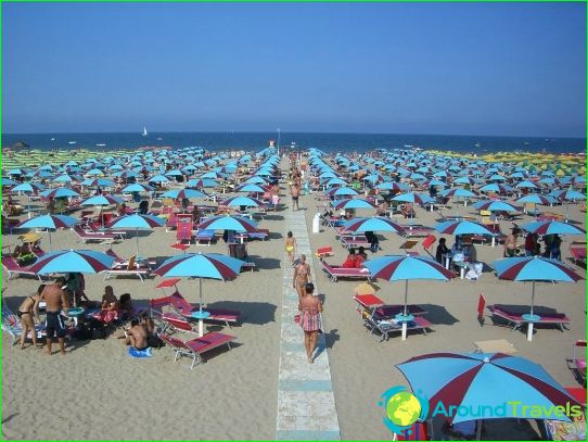 Stranden van Rimini