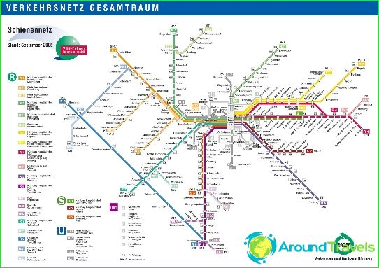 Метро Нюрнберг: карта, снимка, описание