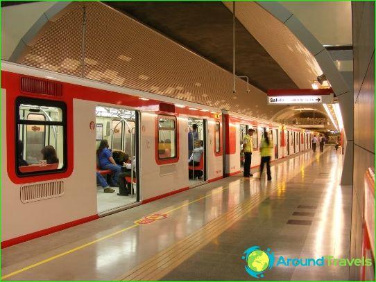 Metro Santiago: kartta, kuva, kuvaus