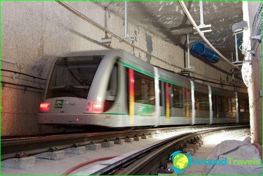 مترو إشبيلية: مخطط ، صورة ، وصف