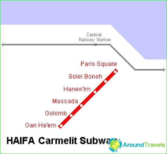 Metro Haifa: schema, fotobeschrijving