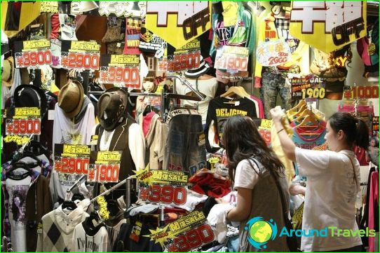 Winkelen in Japan
