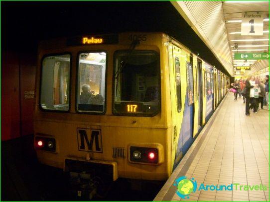 Newcastlen metro: kaavio, kuva, kuvaus