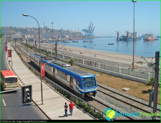 Metro Valparaiso: kaavio, kuva, kuvaus