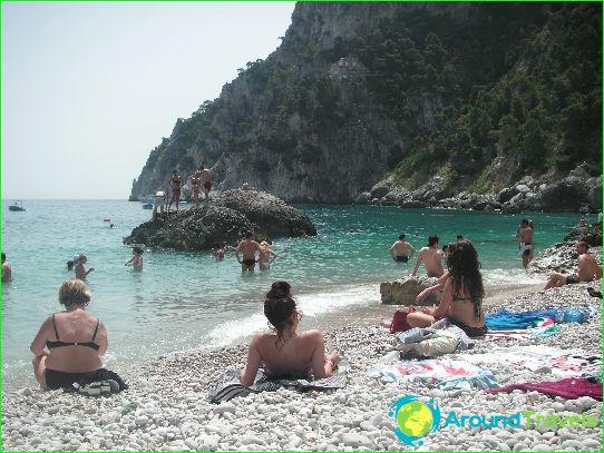 Stranden in Sorrento
