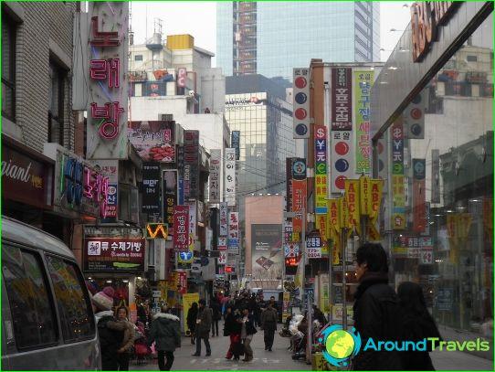 Winkels en markten in Seoul