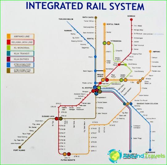 Métro de Kuala Lumpur: schéma, photo, description