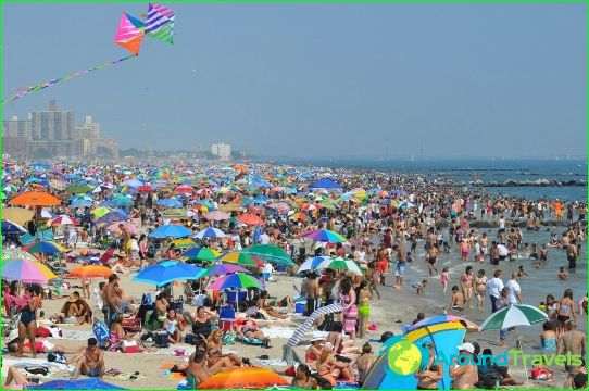 Stranden in New York