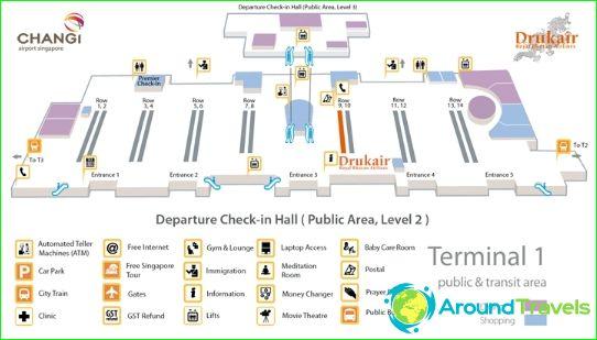 Lentokenttä Singapore