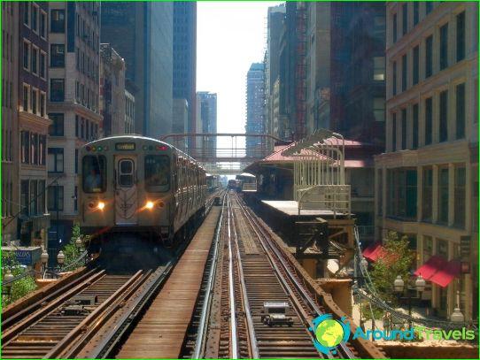 Metro Chicago: schema, foto, beschrijving
