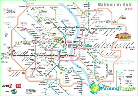Kölnin metro: kaavio, kuva, kuvaus