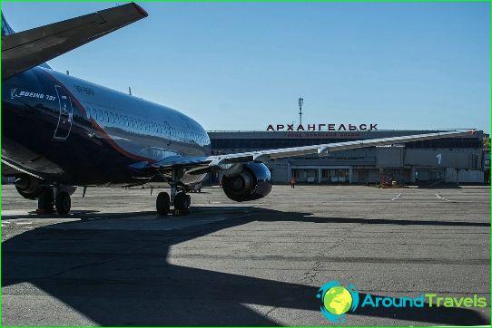 Luchthaven in Arkhangelsk