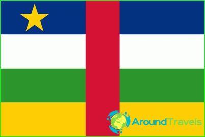 Keski-Afrikan tasavallan lippu