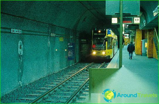 Metro Frankfurt am Main: diagram, foto, beschrijving