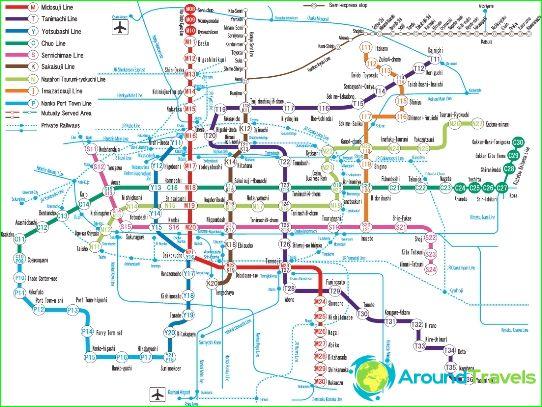 Osaki-metrokartta