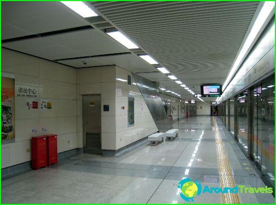 Карта на метрото Тиендзин