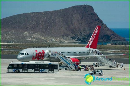 Lentokenttä Teneriffalla