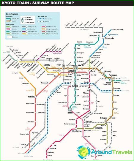 Карта на метрото в Киото