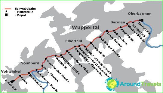 Карта на метрото в Вупертал