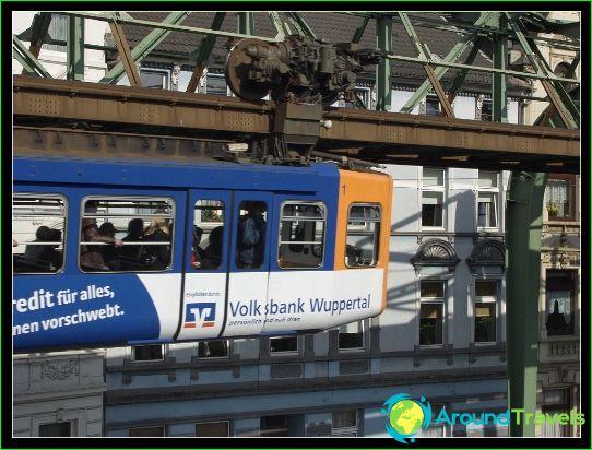 Wuppertal metro: схема, снимка, описание