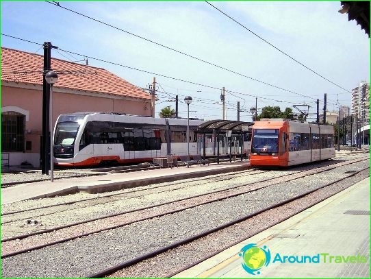 Metro Alicante: schéma, photo, description