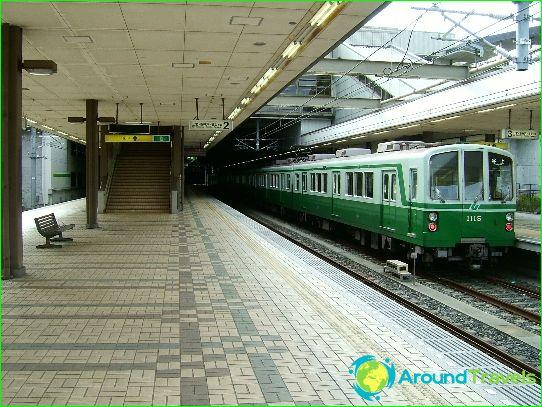 Metro Kobe: kaavio, kuva, kuvaus