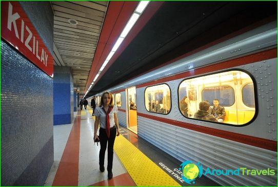 Metro Ankara: schema, foto, beschrijving
