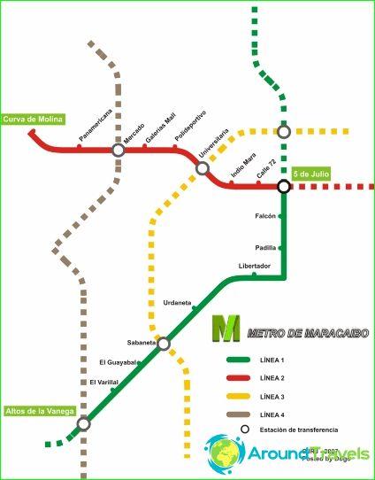 Метро Маракайбо: диаграма, снимка, описание