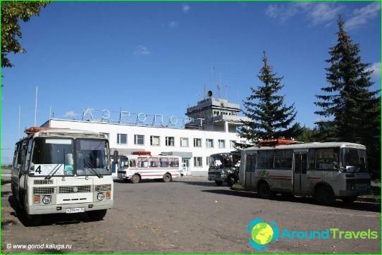 Lentokenttä Kalugan alueella
