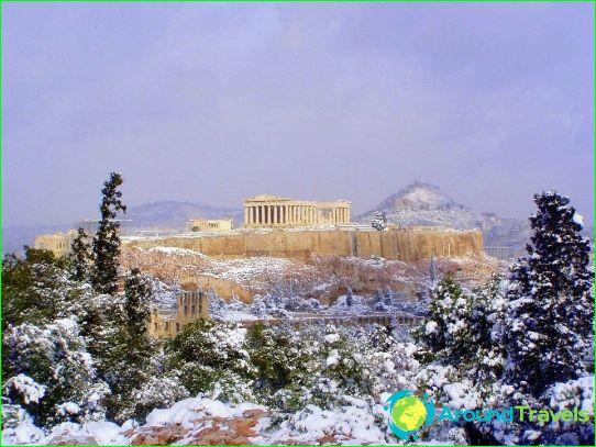 العطلات في اليونان في يناير