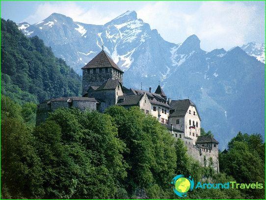 Vaduz - de hoofdstad van Liechtenstein