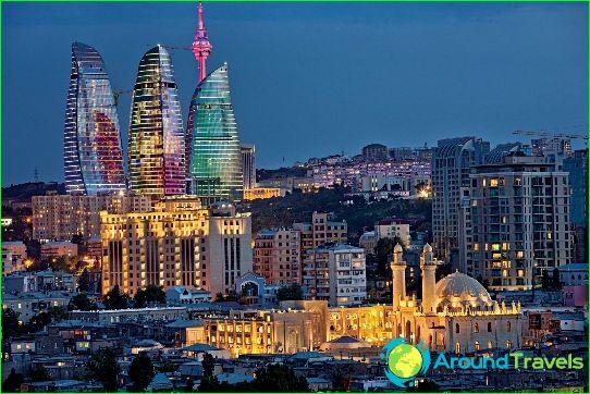 Baku is de hoofdstad van Azerbeidzjan