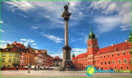Tours naar Warschau