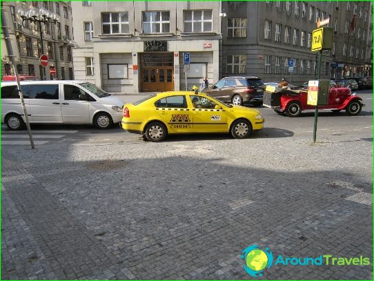 Taxi in Praag