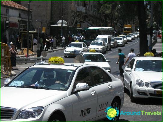 Taxi in Jeruzalem