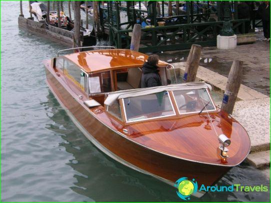 Taxi i Venedig