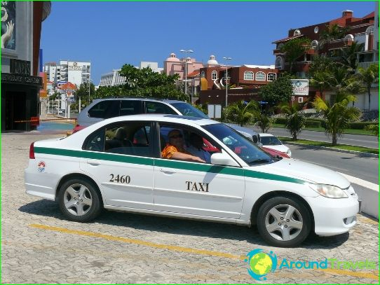 Taxi in Cancun