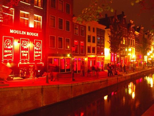 Punainen valo katu hollannissa