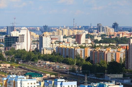 Buitenwijken van Minsk