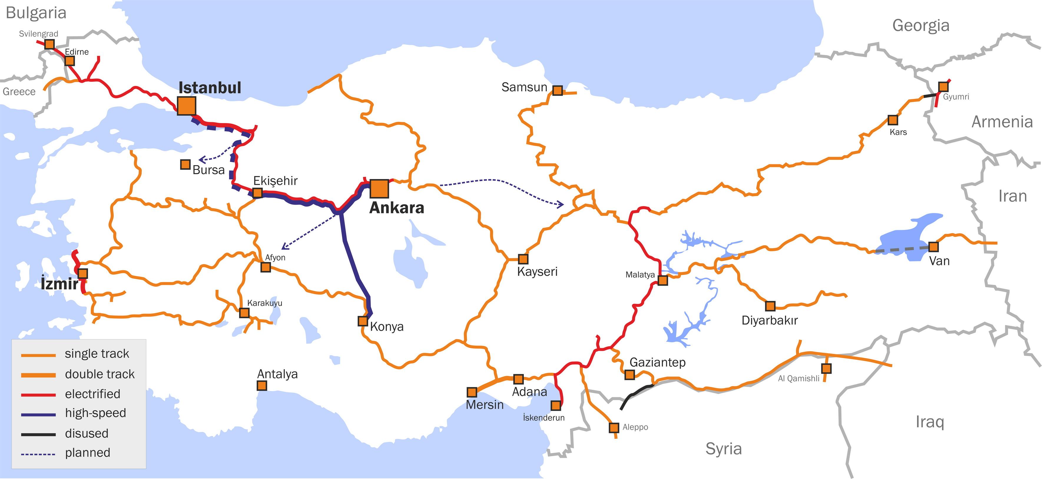 Spoorwegen van Turkije