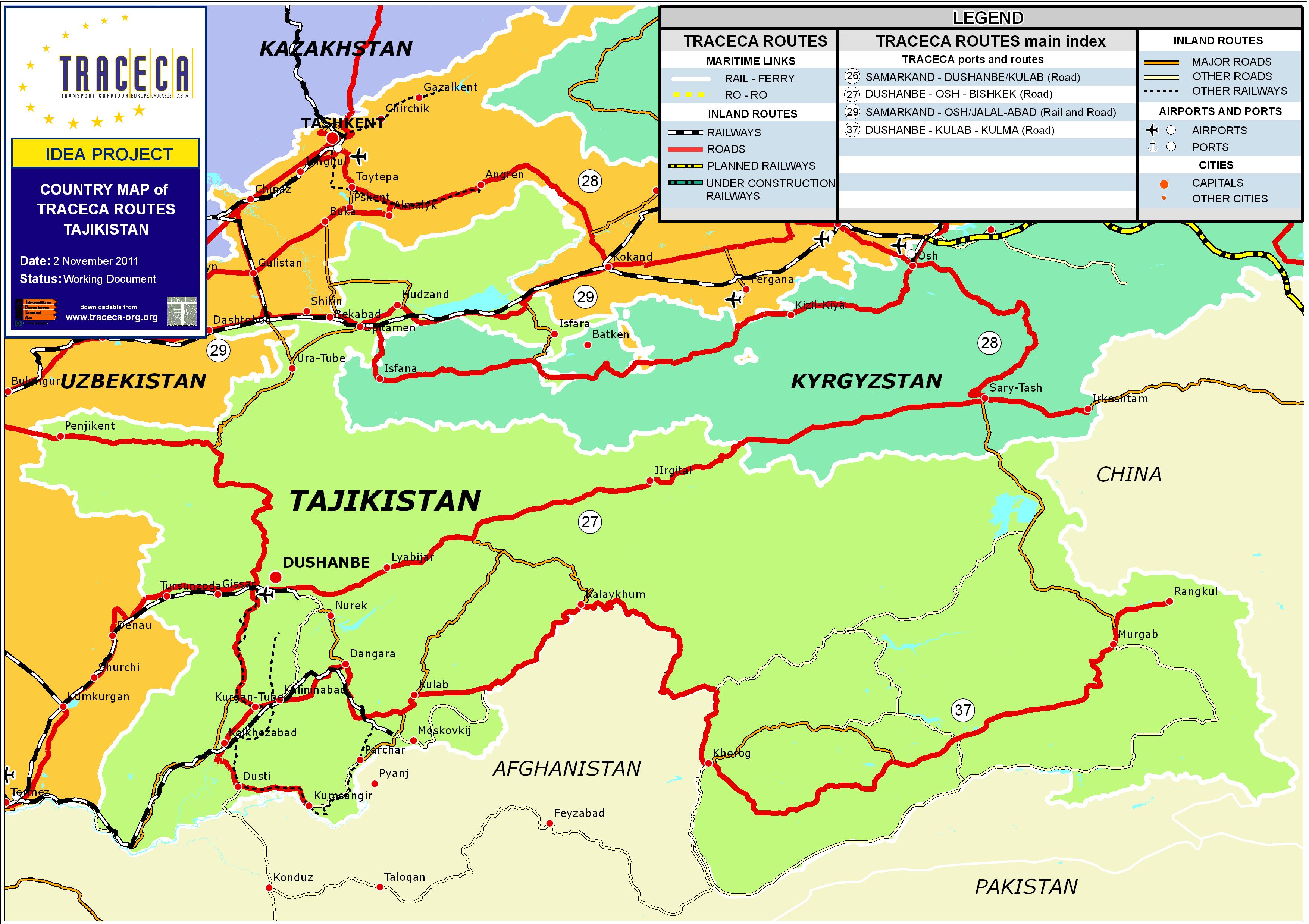 Железници на Таджикистан
