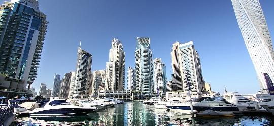 Buitenwijken van Dubai