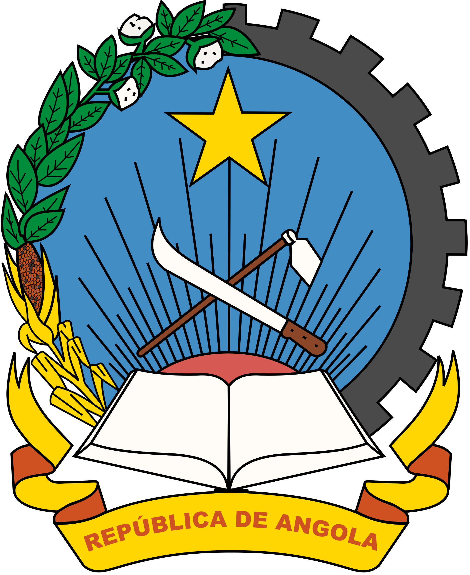 Герб на Ангола