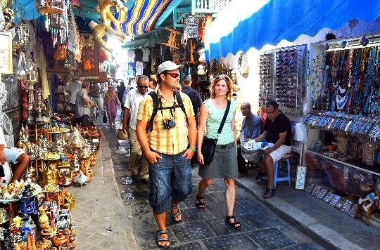 Alleen in Tunesië