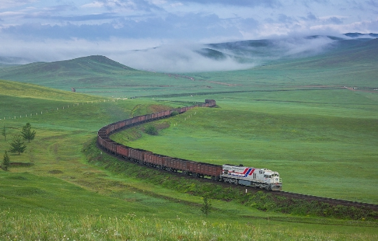 Железници на Монголия